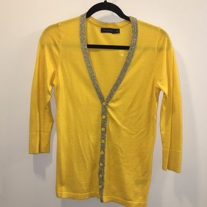 The Limited Yellow cardigan with detail